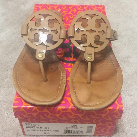 0283b9d231cc Tory Burch Shoes - Tory Burch Royal Tan Leather Miller Sandal